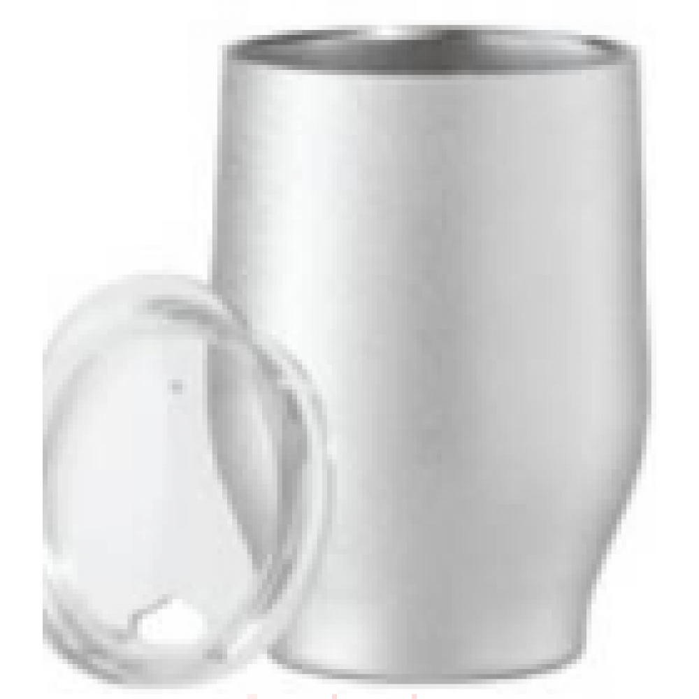 Vacuum Insulated Wine Tumbler 12oz Silver Frost