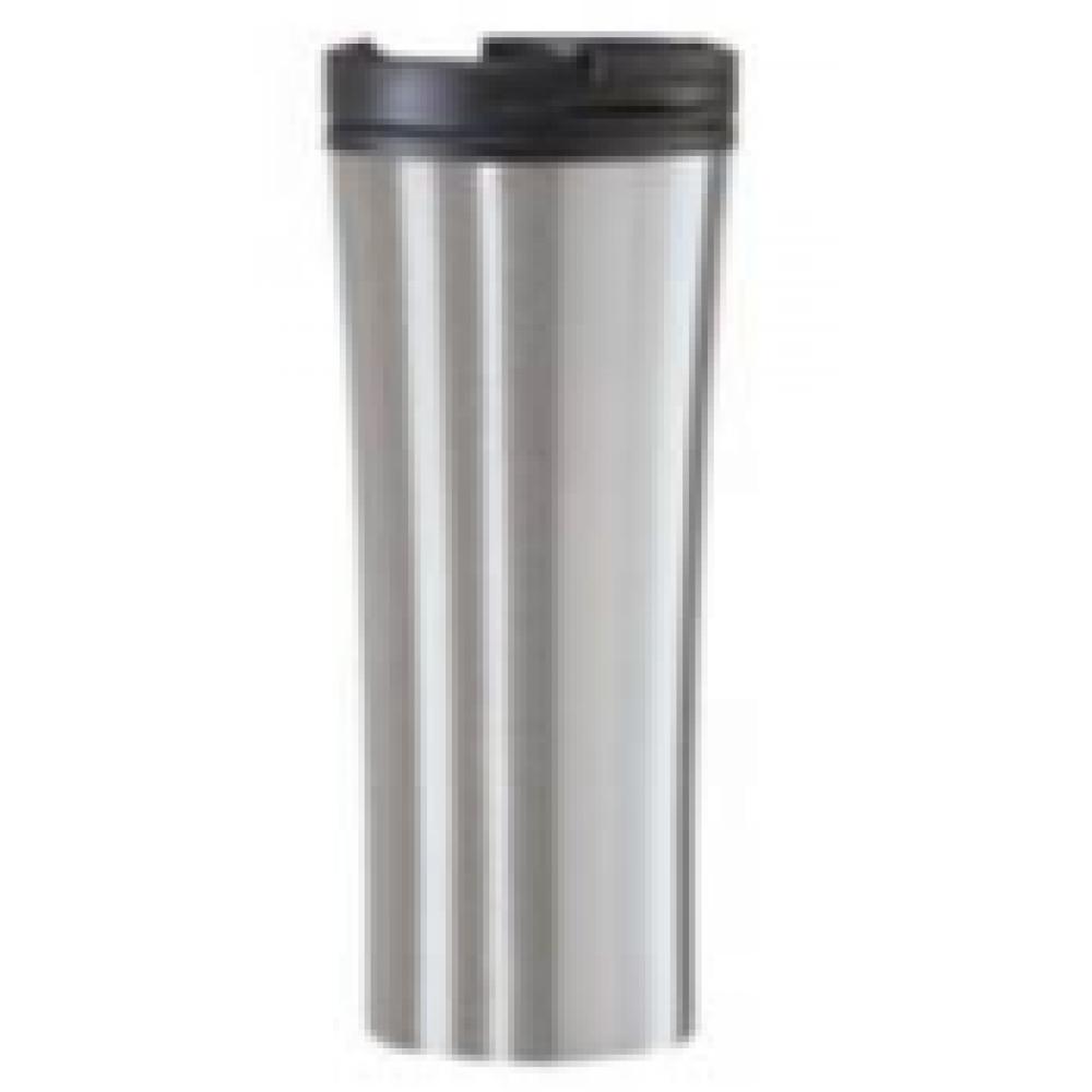 Travel Tumbler Mug Stainless Steel Contour 16oz  silver