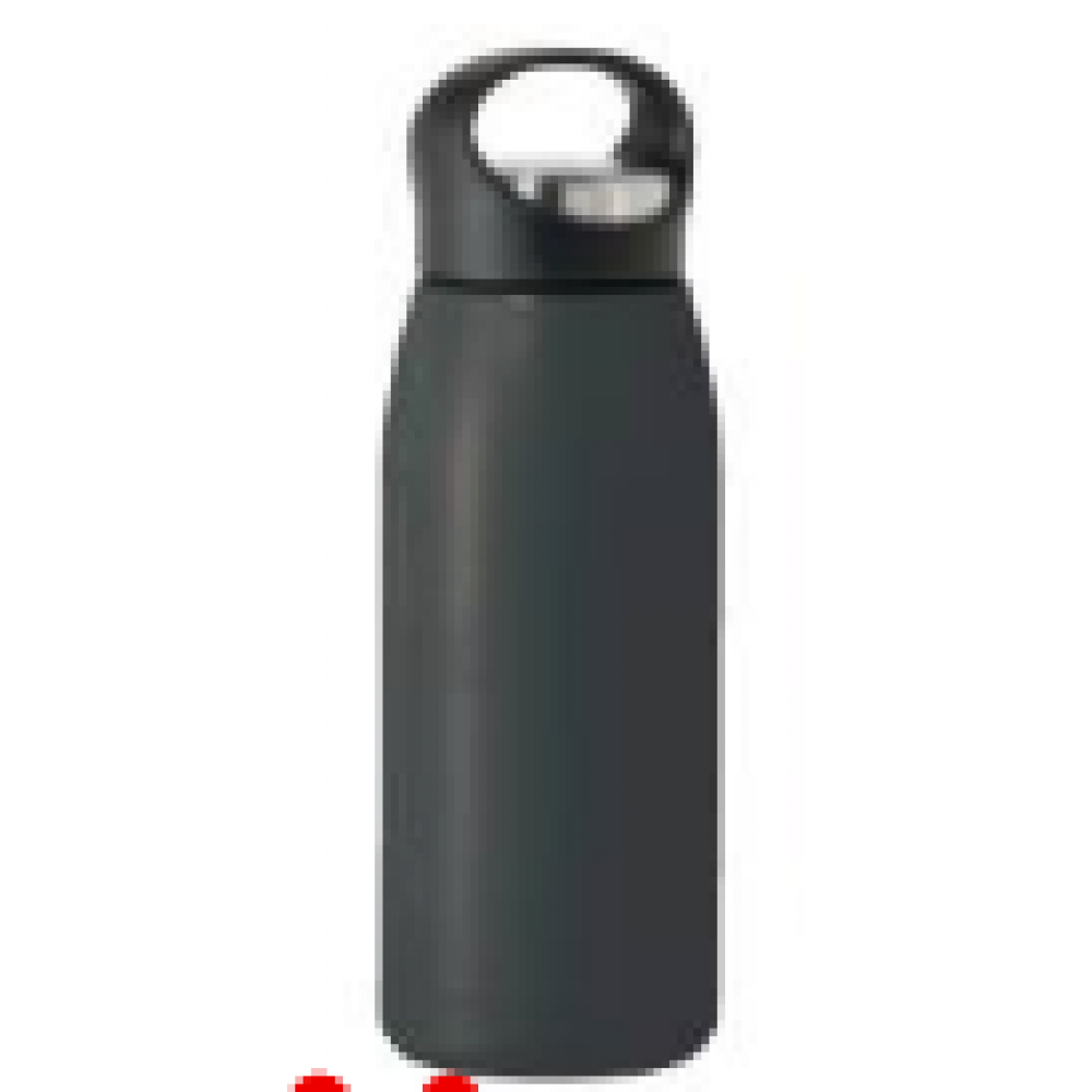 travel water bottle free style17oz vac insulated black