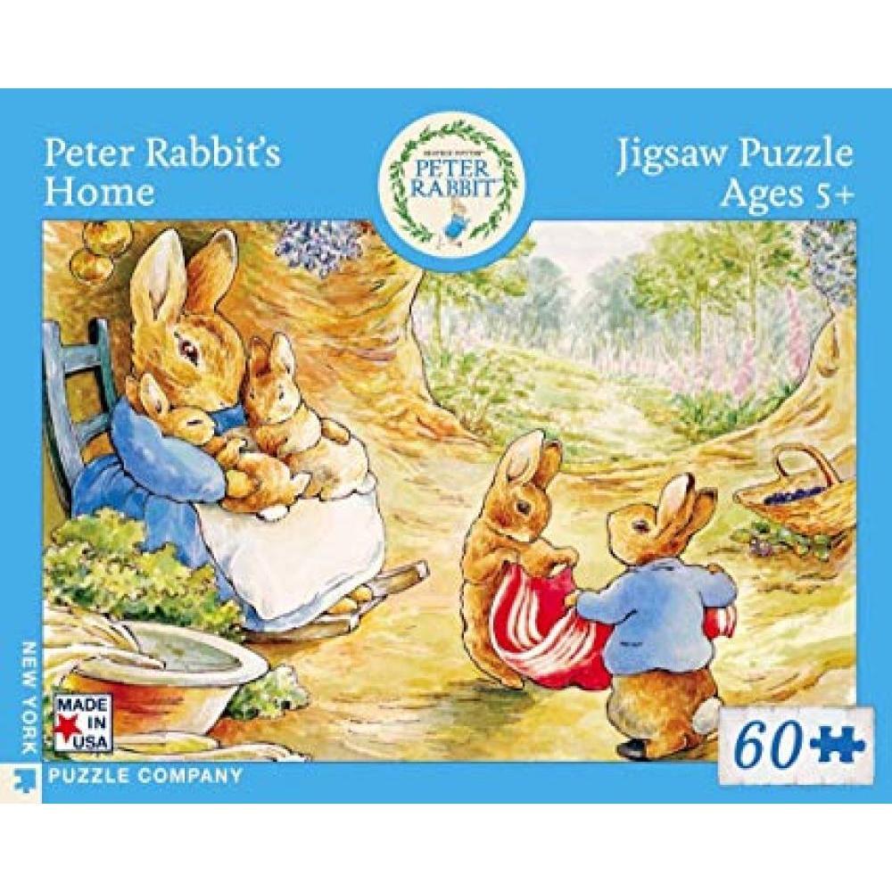 Beatrix Potter Puzzle 60 Piece Peter Rabbits Home