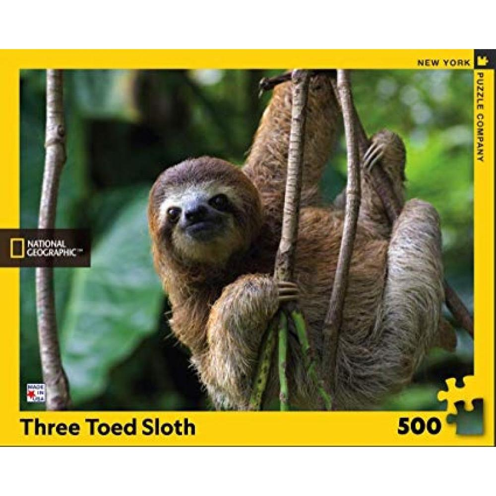 National Geographic Puzzle 500 Piece Sloth Three Toed
