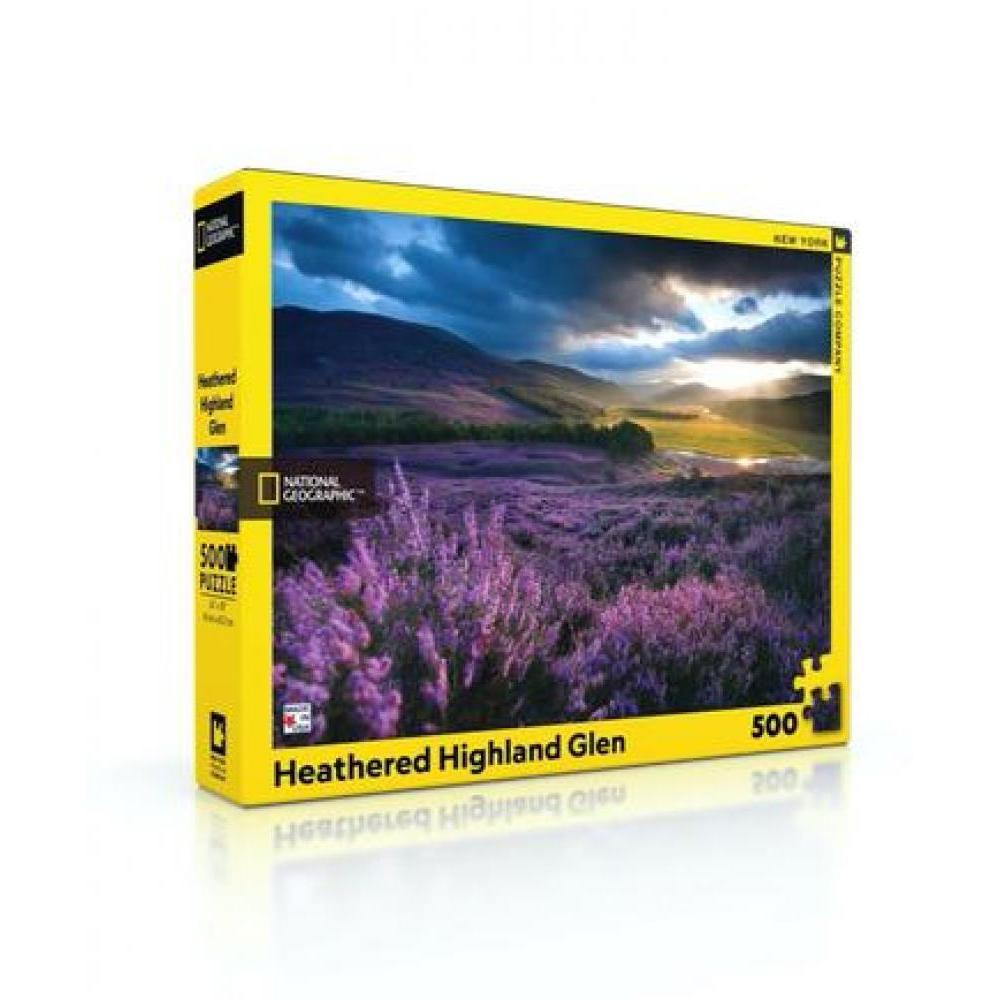 National Geographic Puzzle 500 Piece Heathered Highland Glen
