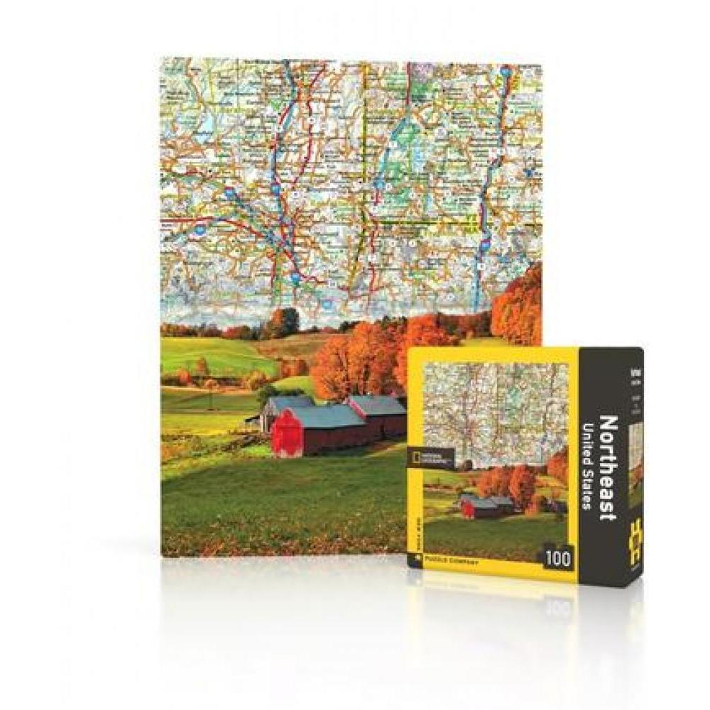 National Geographic Mini Puzzle 100 Piece Northeast US Map