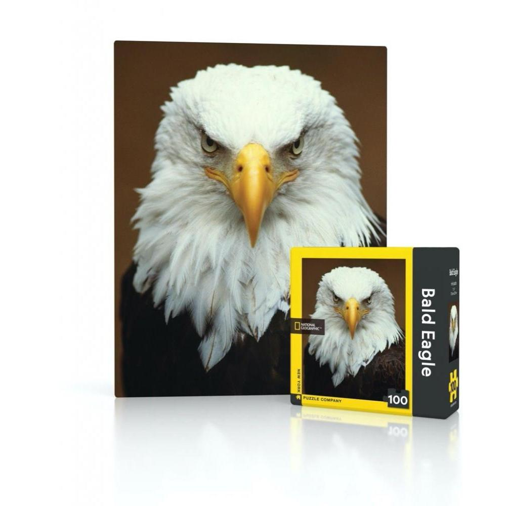 National Geographic Mini Puzzle 100 Piece Bald Eagle