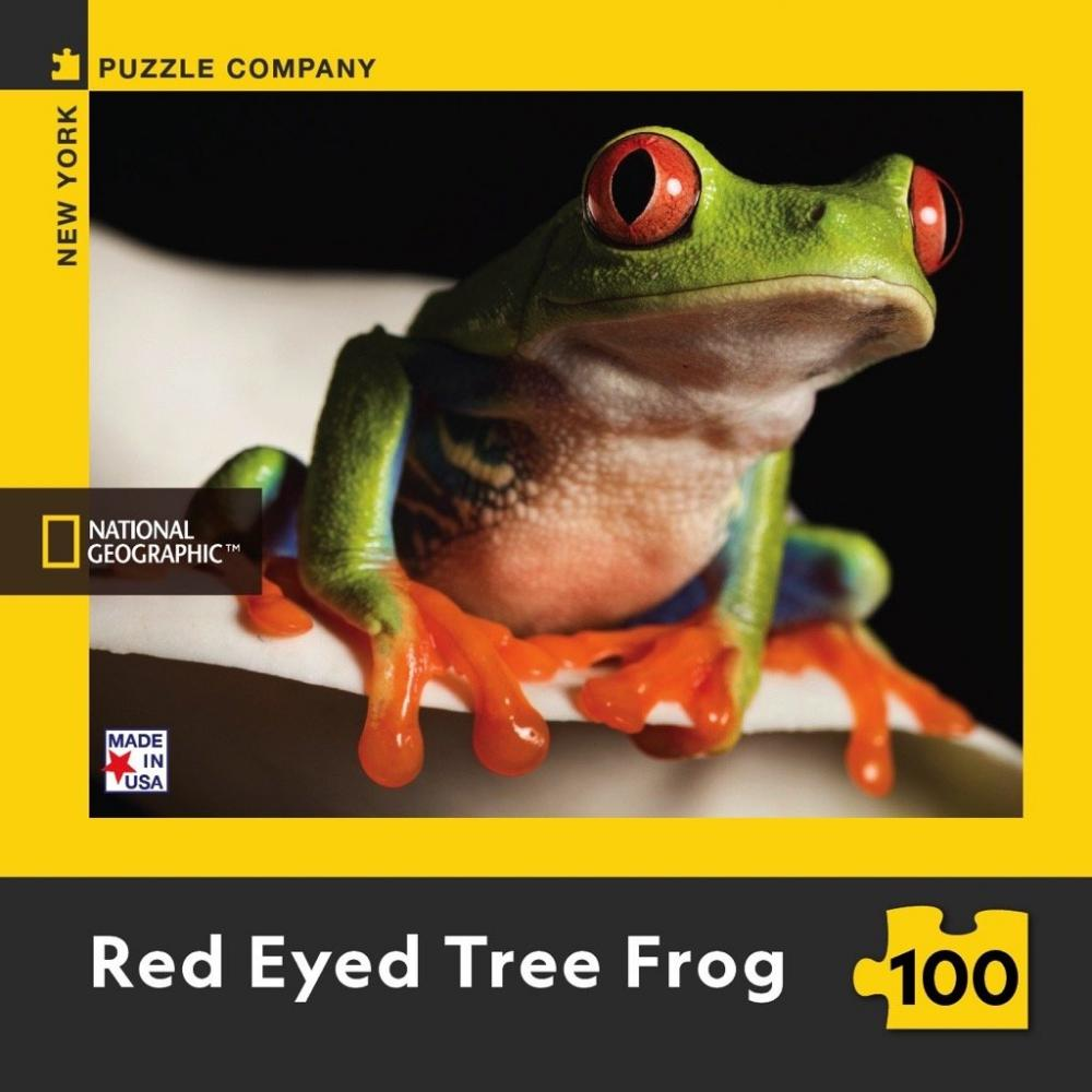 National Geographic Mini Puzzle 100 Piece Red Eyed Tree Frog
