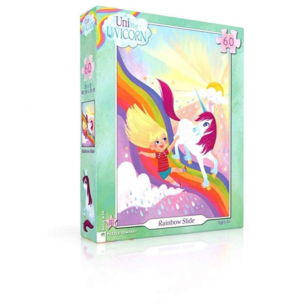 Uni The Unicorn Puzzle 60 Piece Rainbow Slide