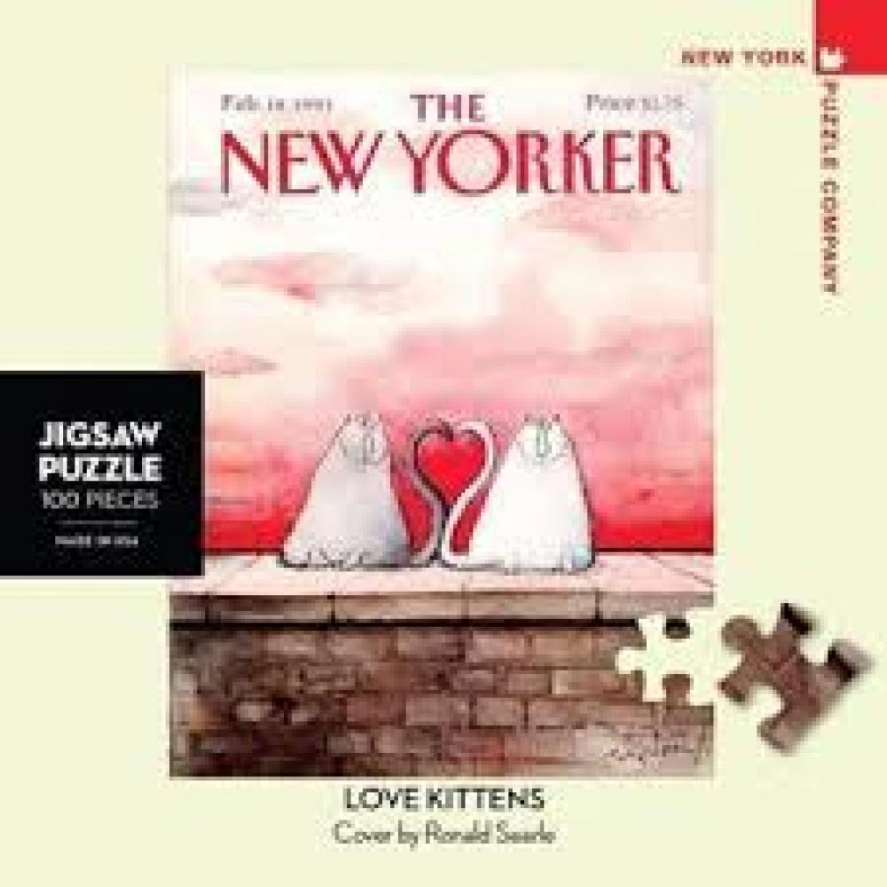 New Yorker Mini Puzzle 100 Piece Love Kittens