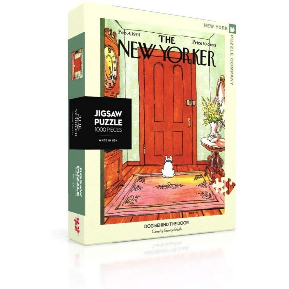 New Yorker Puzzle 1000 Piece Dog Behind Door