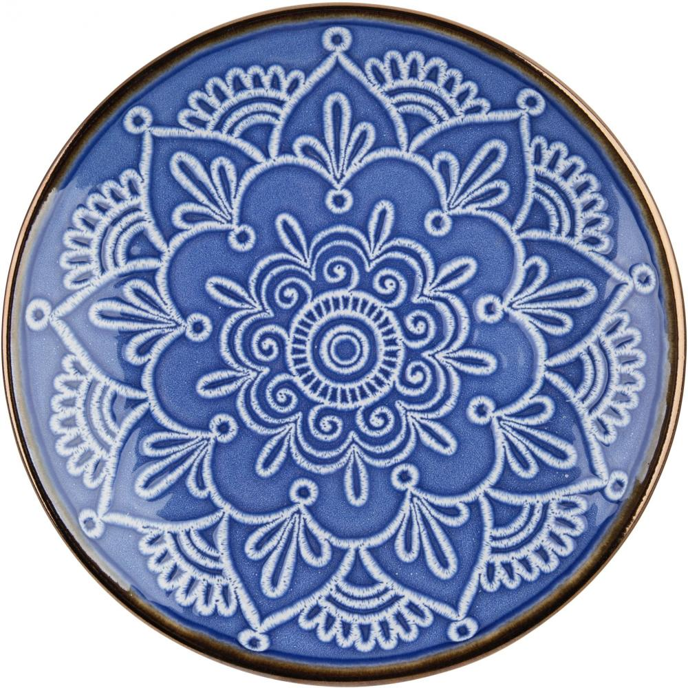 Blue Medallion Dinner Plate 10.5in Diameter