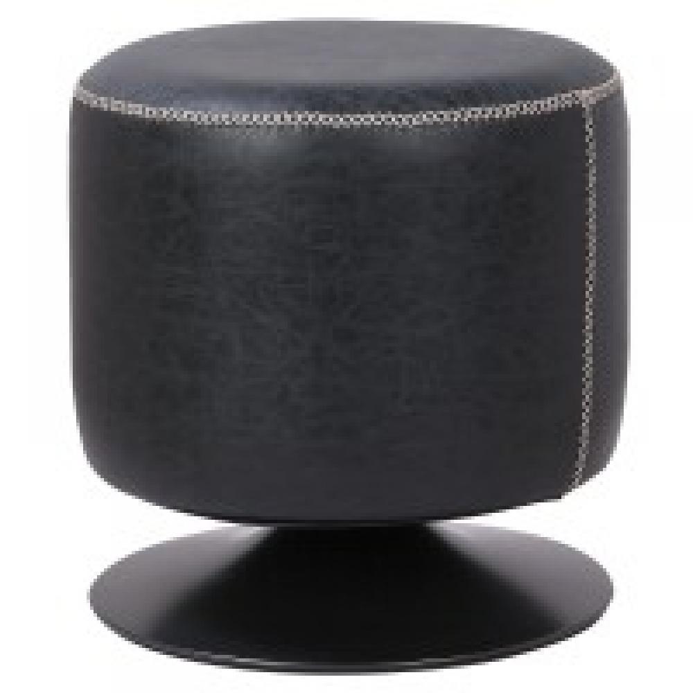 Gaia Round Ottoman Polyurethane Black