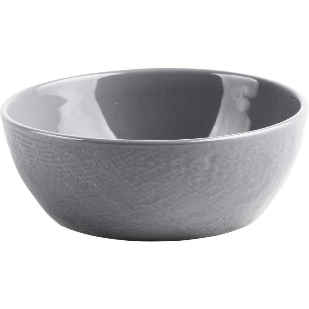 Burlap Collection Soup Cereal Bowl 7in Diameter Dark Grey