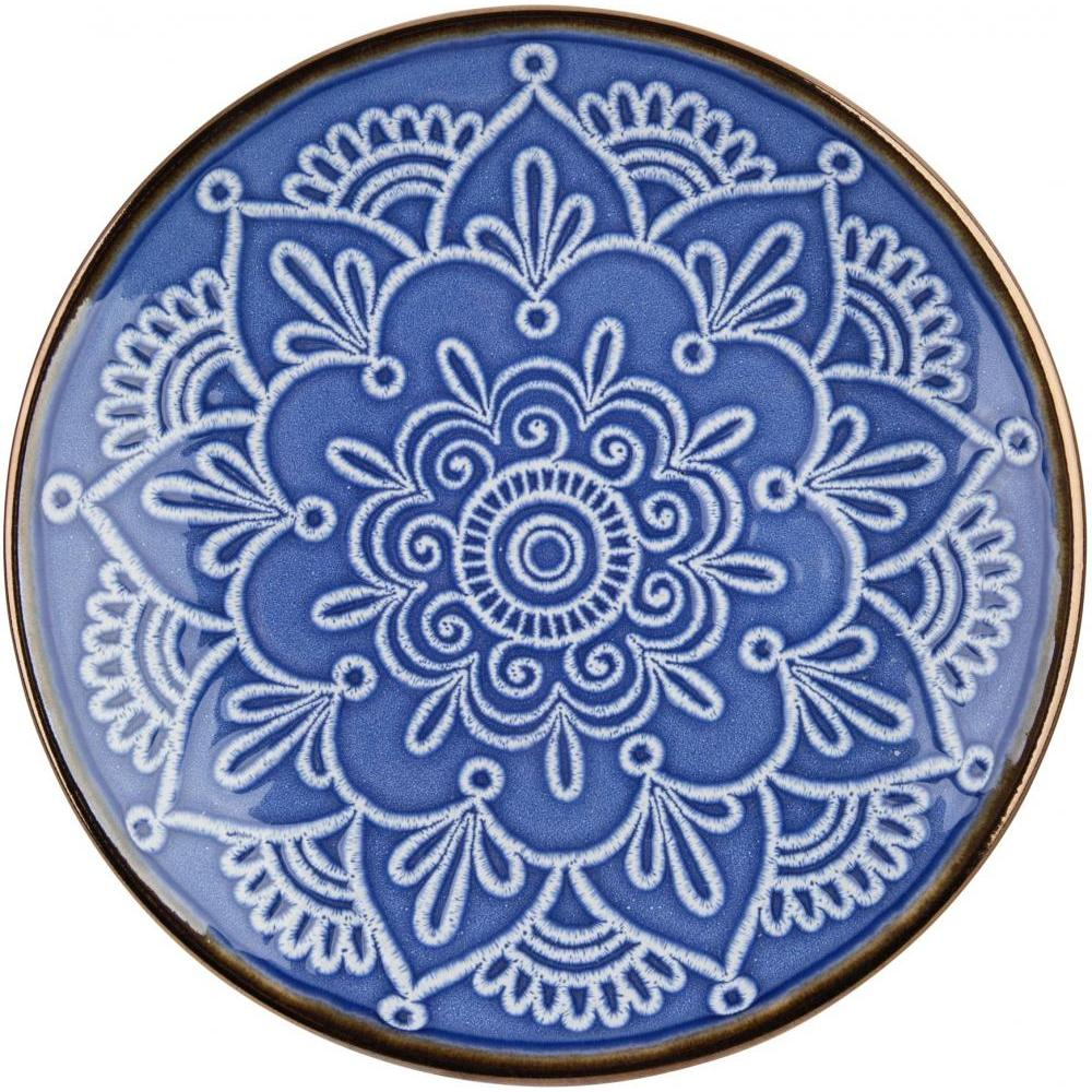 Blue Medallion Salad Plate 8.25in Diameter