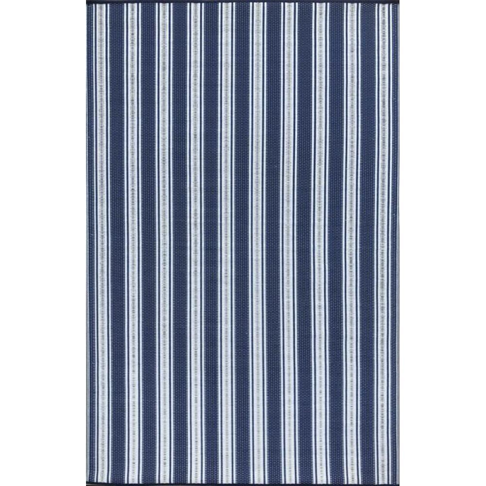 Mad Mats Runner Geometric Vertical Stripes Blue/White
