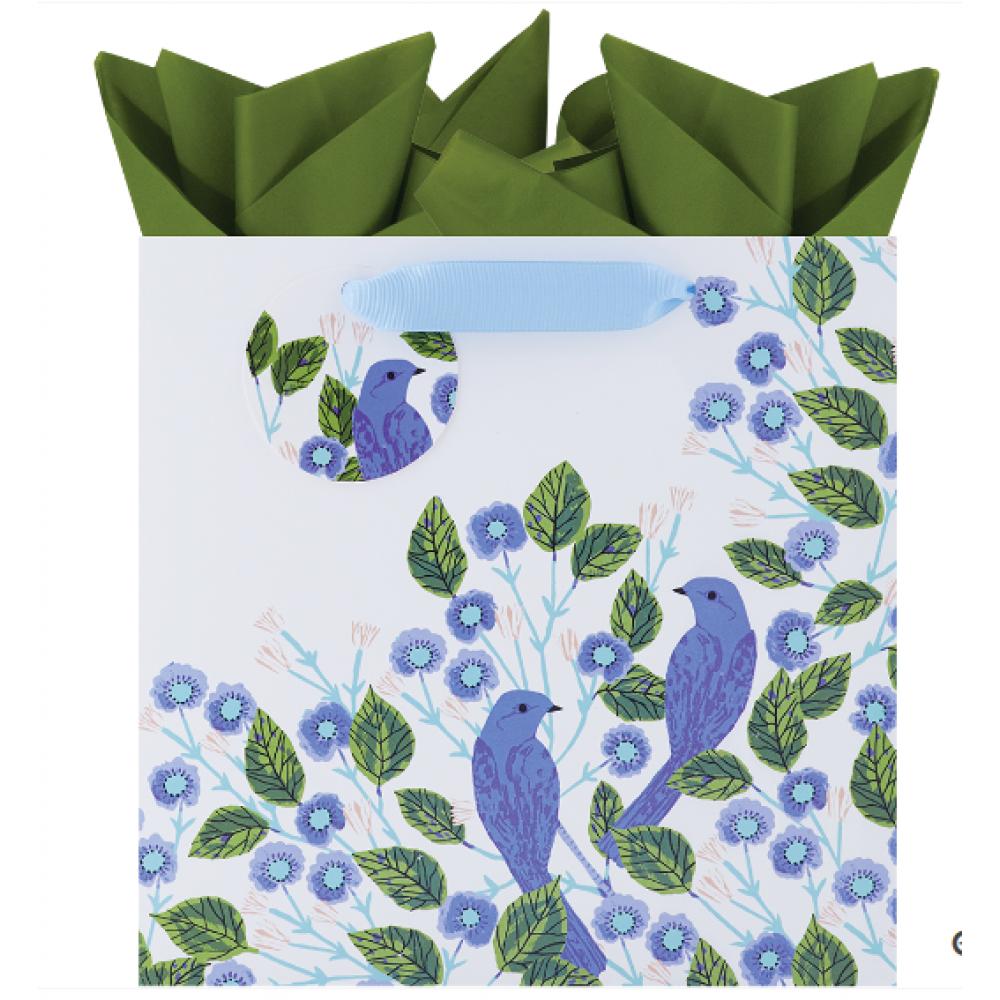 Gift Bag Medium Square Blue Bird