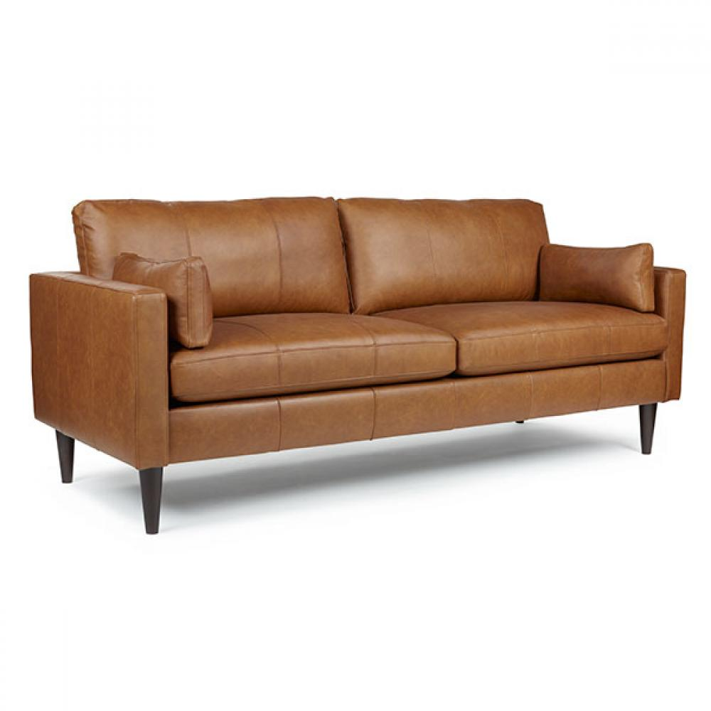 Trafton Sofa Espresso Leg Leather Polyurethane Match Rust