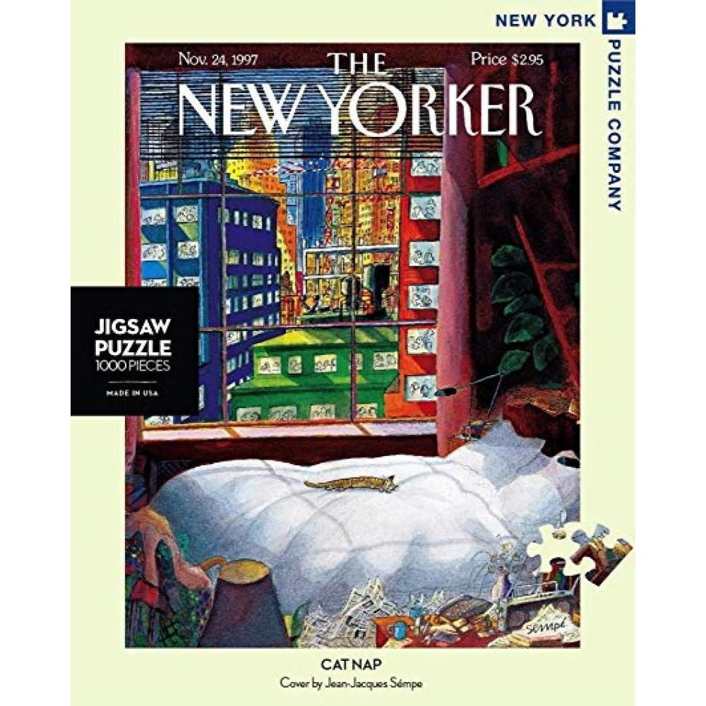 New Yorker Puzzle 1000 Piece Cat Nap