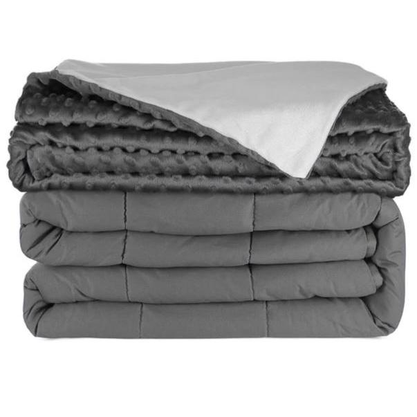 Blanket Weighted 15 IB Queen Size Mink Dotted Grey