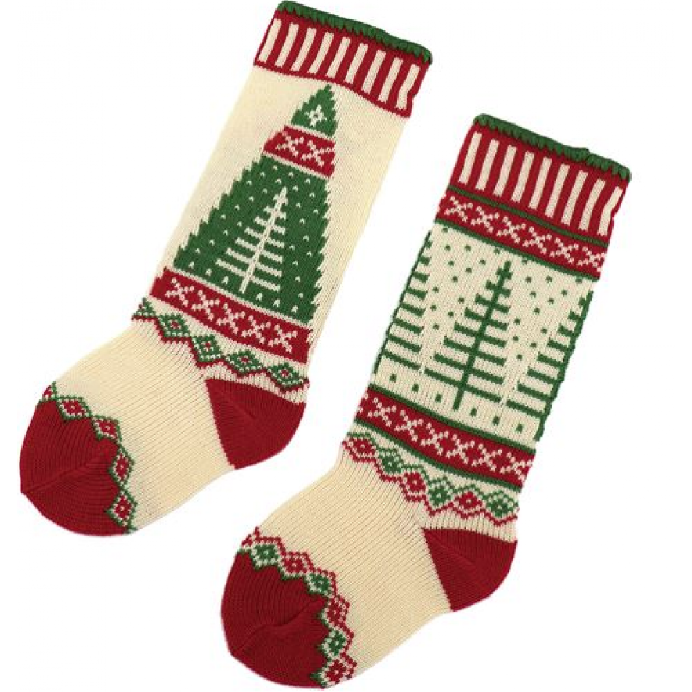 Stockings - Knitted Holiday Trees