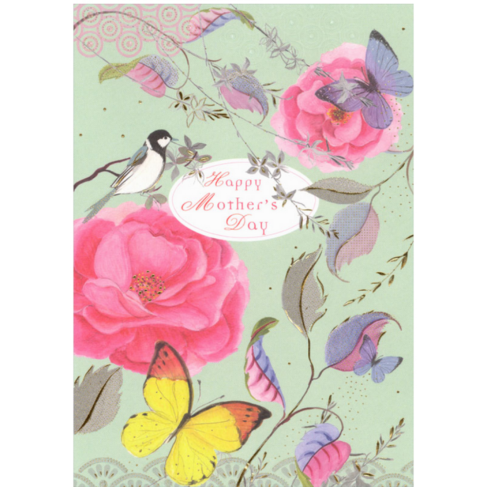 Mothers Day - Roses/Bird