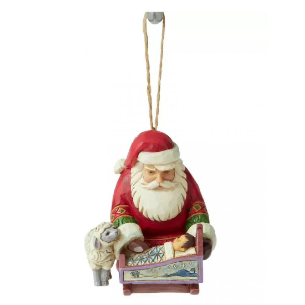 Ornament - Jim Shore - Santa With Baby Jesus