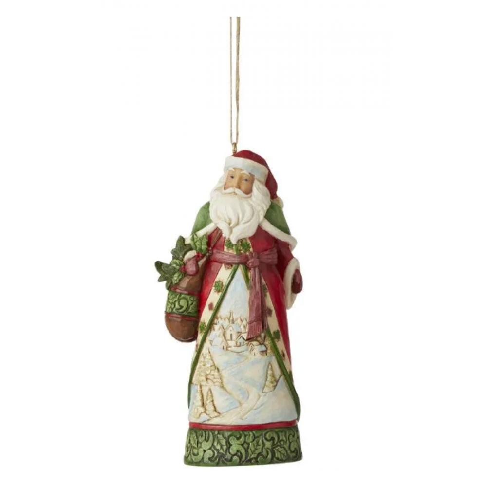 Ornament - Jim Shore - Santa with Winter
