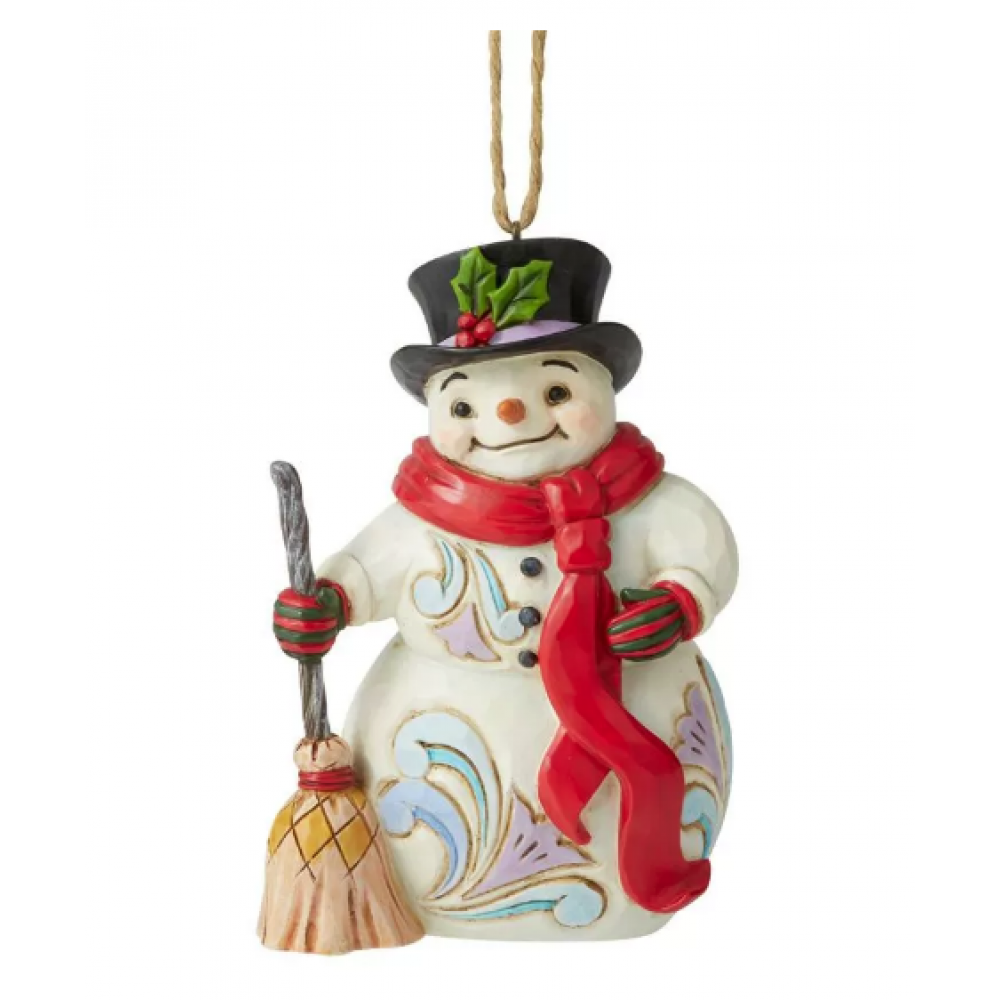 Ornament - Jim Shore - Snowman with Long Scarf