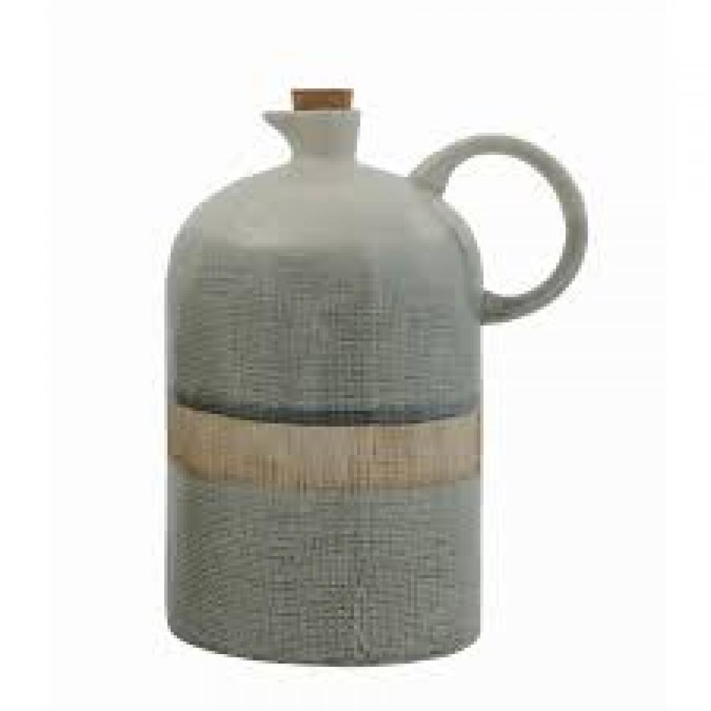 40 oz. Ceramic Jug w/ Cork Stopper, Reactive Glaze