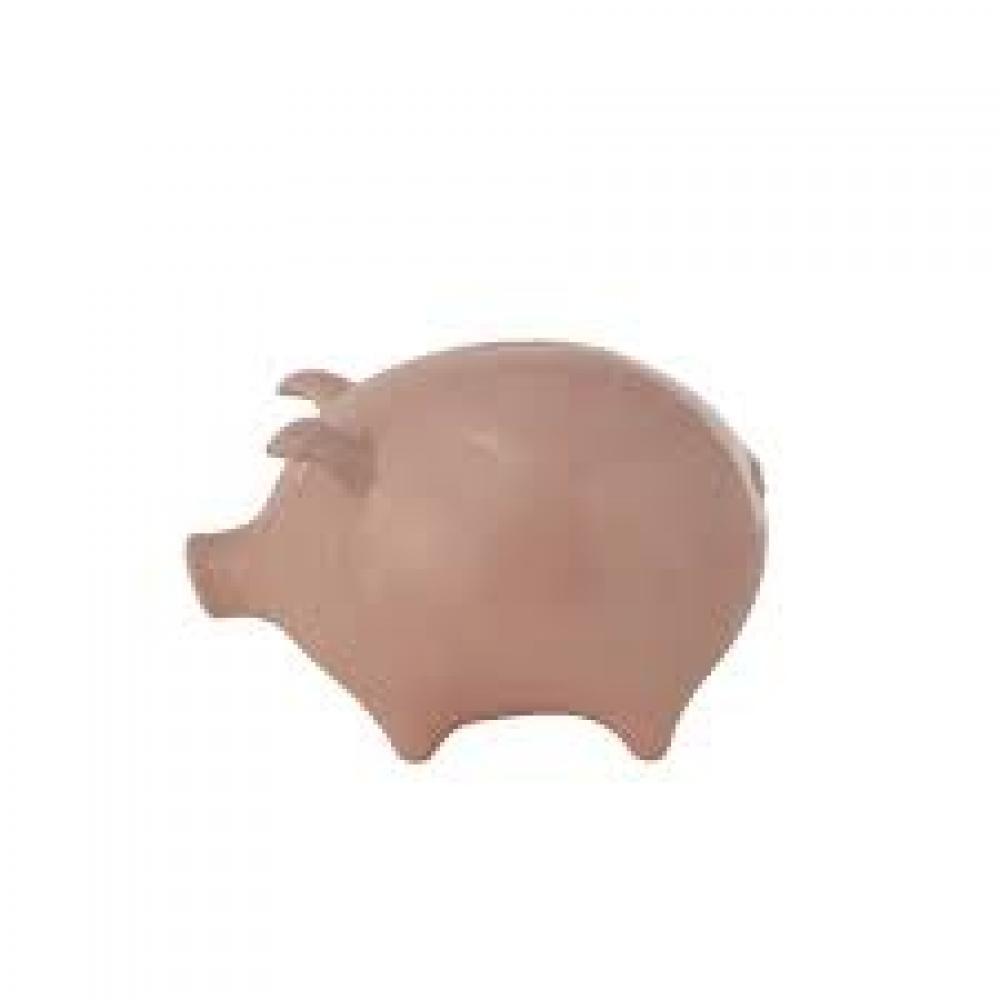 Stoneware Piggy Bank, Pink