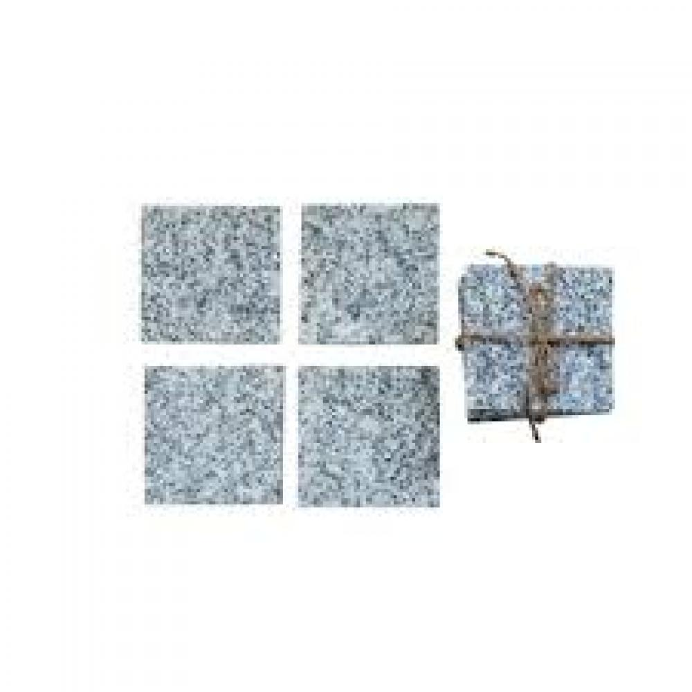 4in Square Granite Coasters, Set of 4