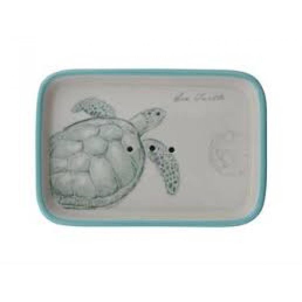 Stoneware Soap Dish Turtle