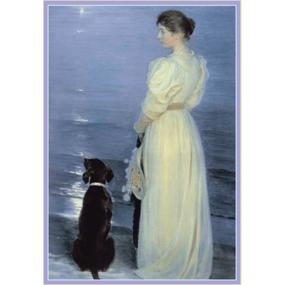 Mothers Day - Woman and Dog at Beach