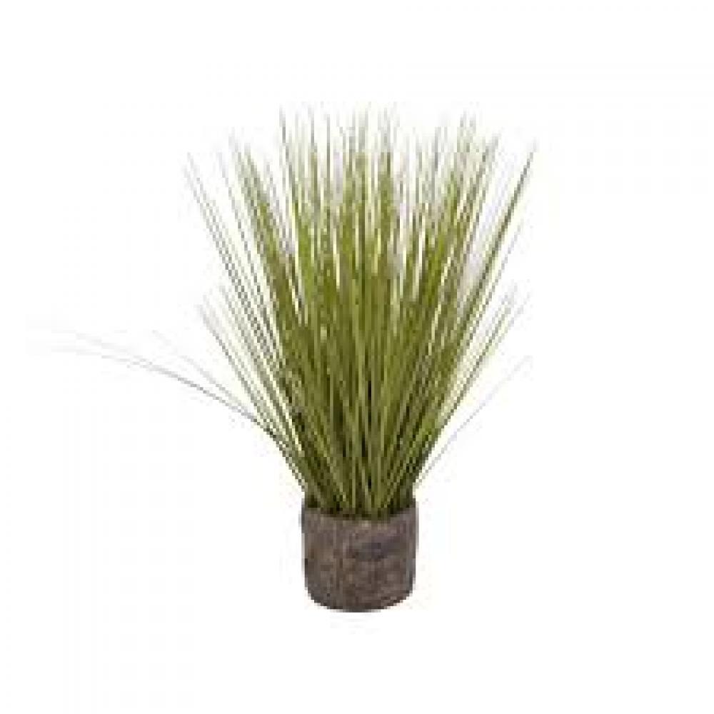 Faux Grass in Flower Pot