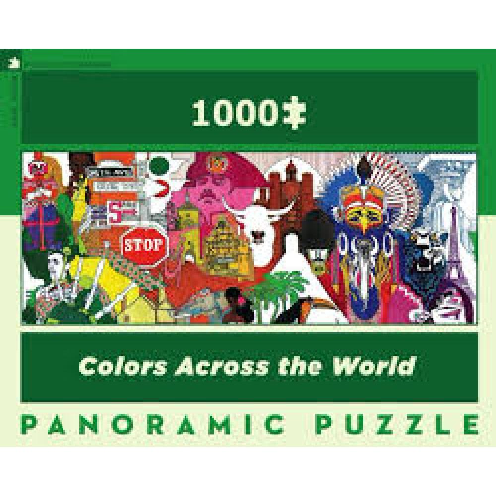 American Airlines Panoramic Puzzle 1000 Piece Colors Across the World
