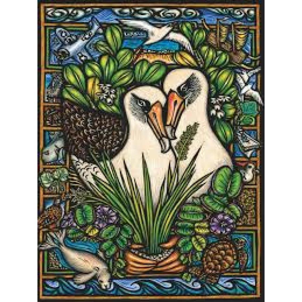 Cornell Lab of Ornithology Puzzle 1000 Piece Albatross Duo
