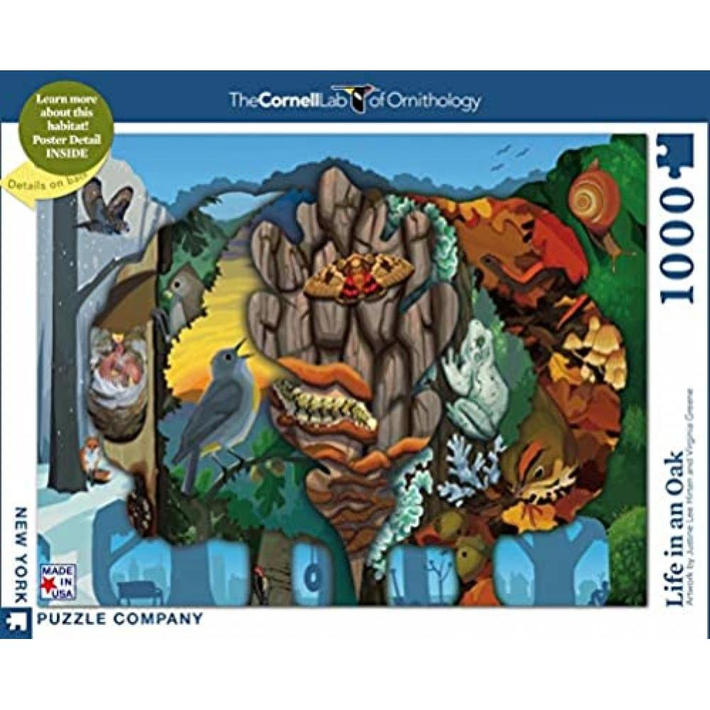 Cornell Lab of Ornithology Puzzle 1000 Piece Life in An Oak