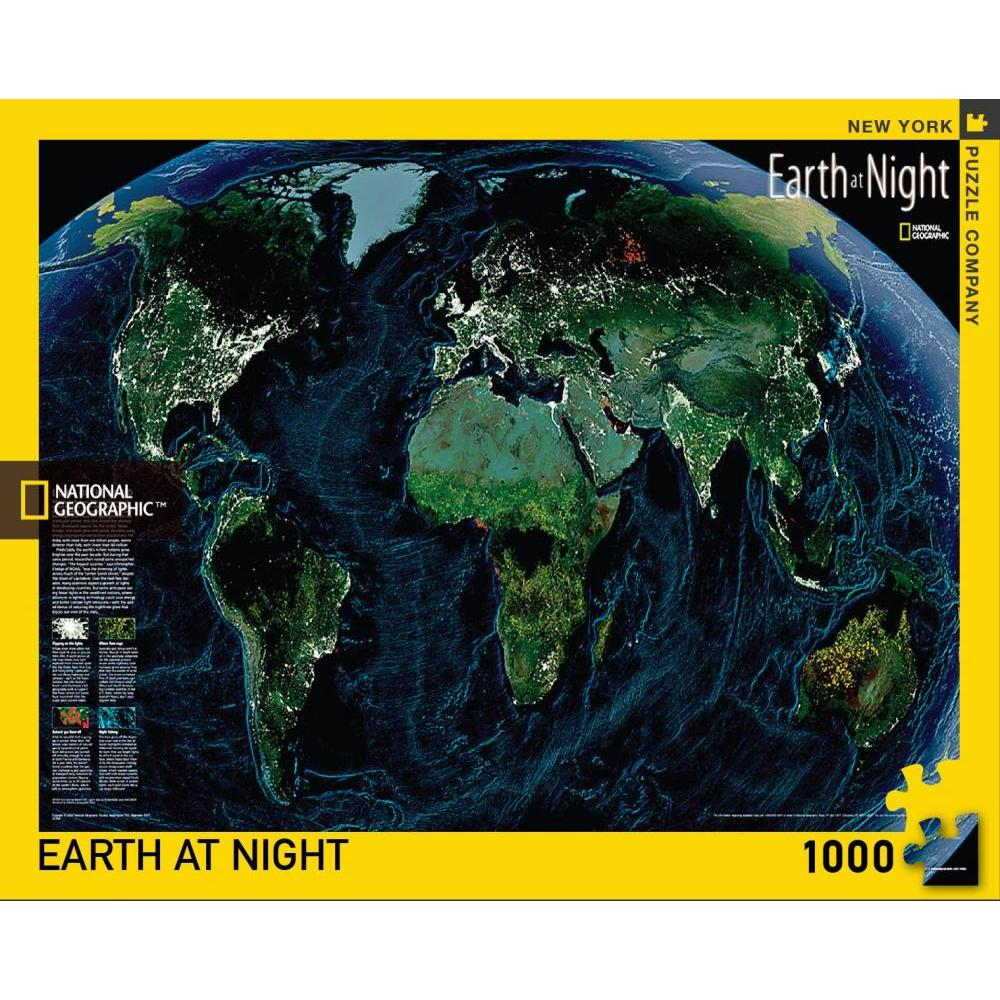 National Geographic Puzzle 1000 Piece Earth at Night