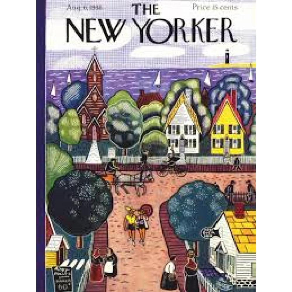 New Yorker Puzzle 1000 Piece Village By the Sea