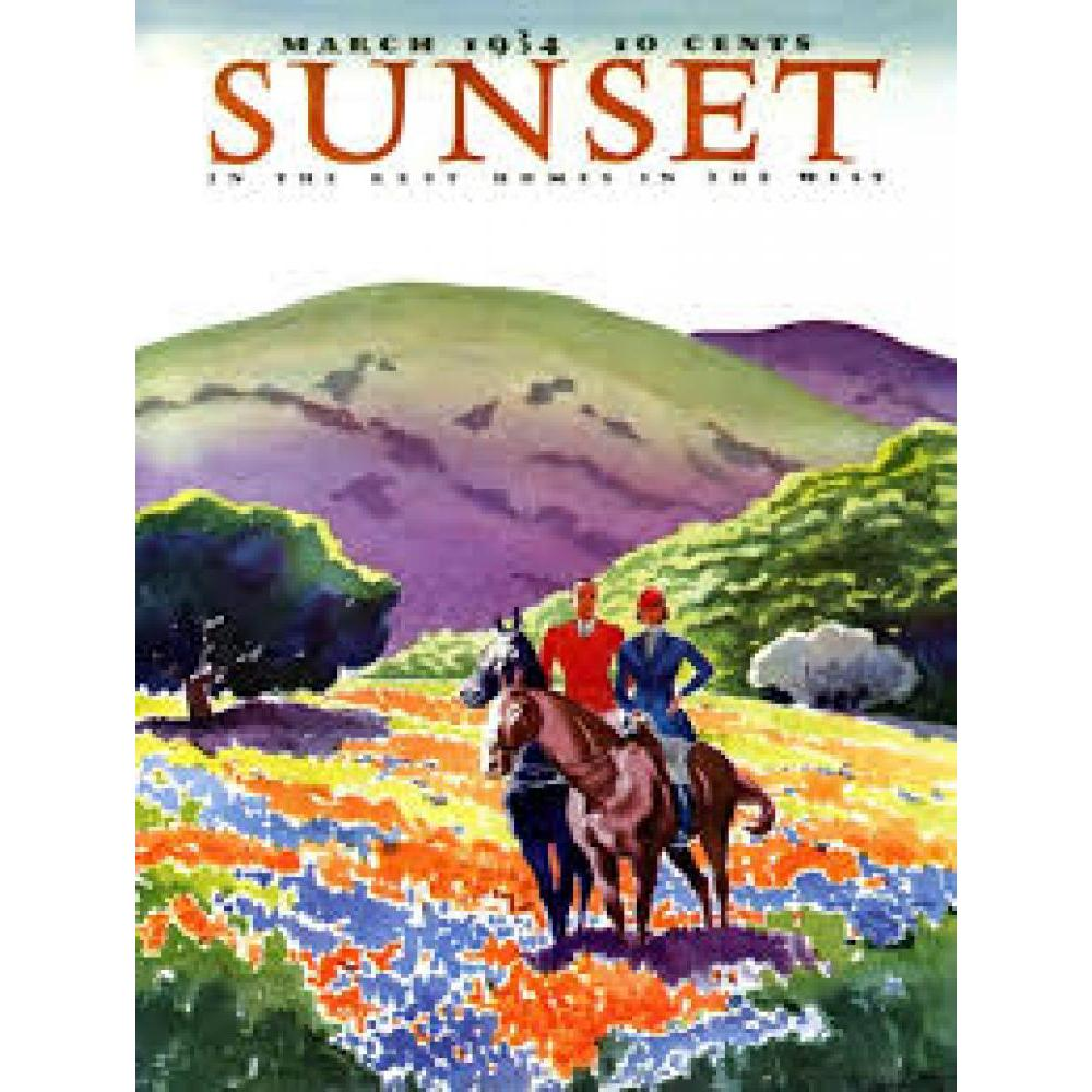 Sunset Puzzle 500 Piece Horses In the Hills