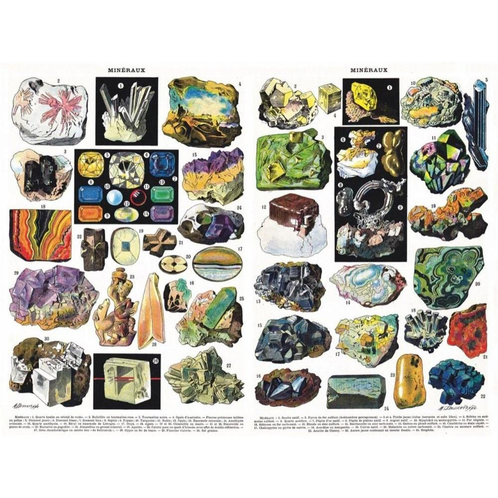 Vintage Collection Puzzle 1000 Piece Minerals and Gems