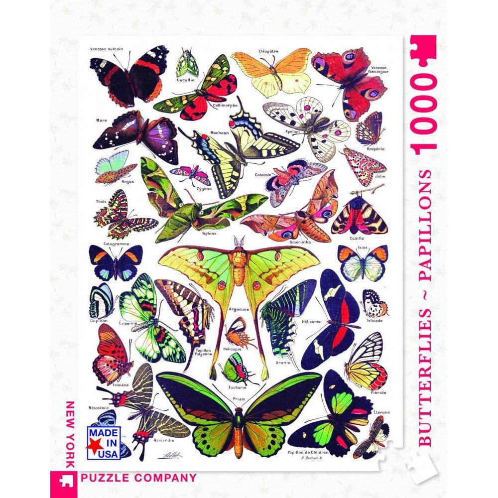 Vintage Collection Puzzle 1000 Piece Butterflies Papillons