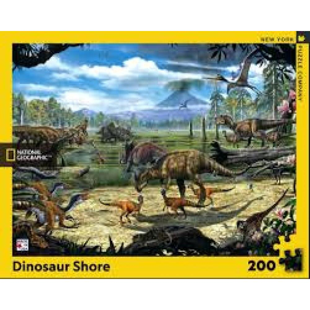 National Geographic Puzzle 200 Piece Dinosaur Shore