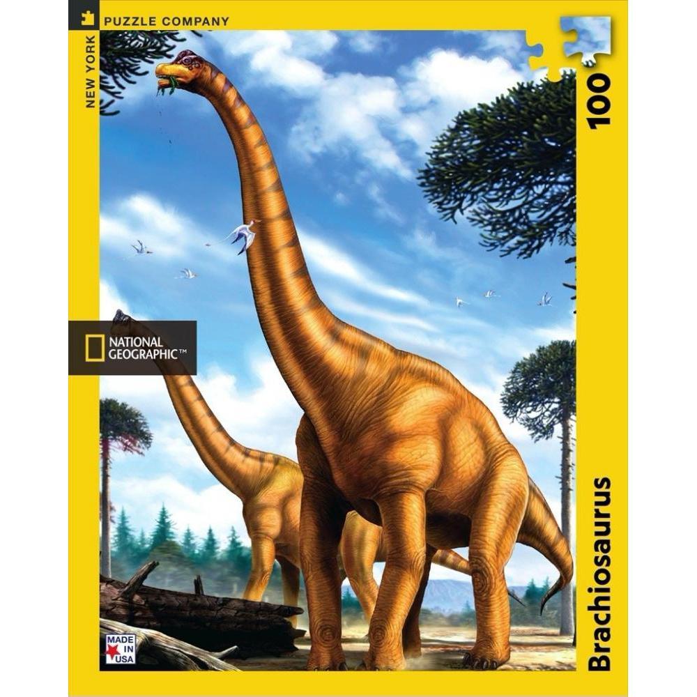 National Geographic Puzzle 100 Piece Brachiosaurus
