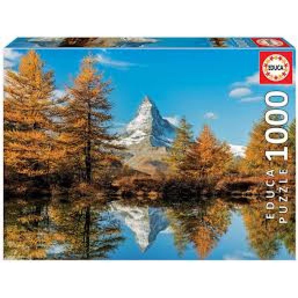 Educa Puzzle 1000 Piece Matterhorn Mountain In Autumn