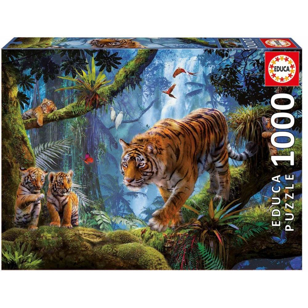Educa Puzzle 1000 Piece Tigers In the Tree
