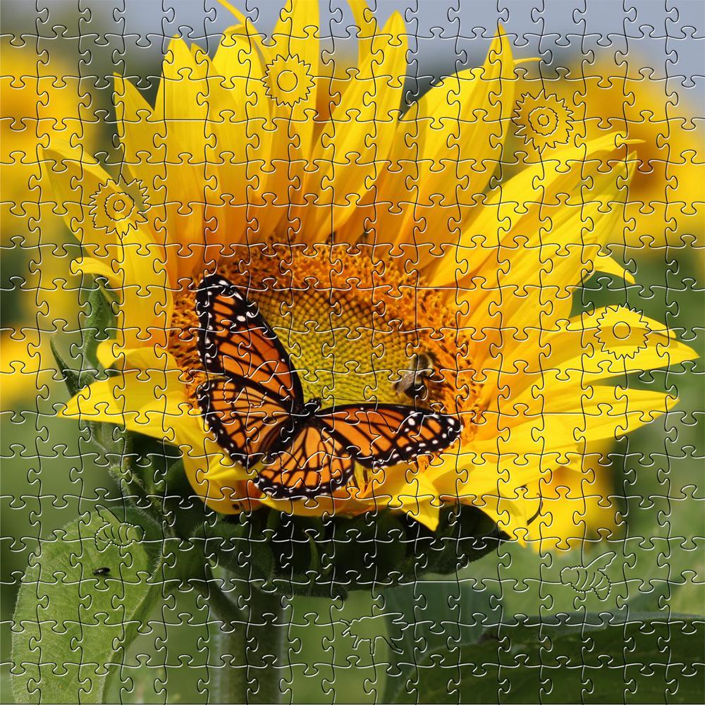 Puzzle - 50 Pieces Sunflower Zen Teaser