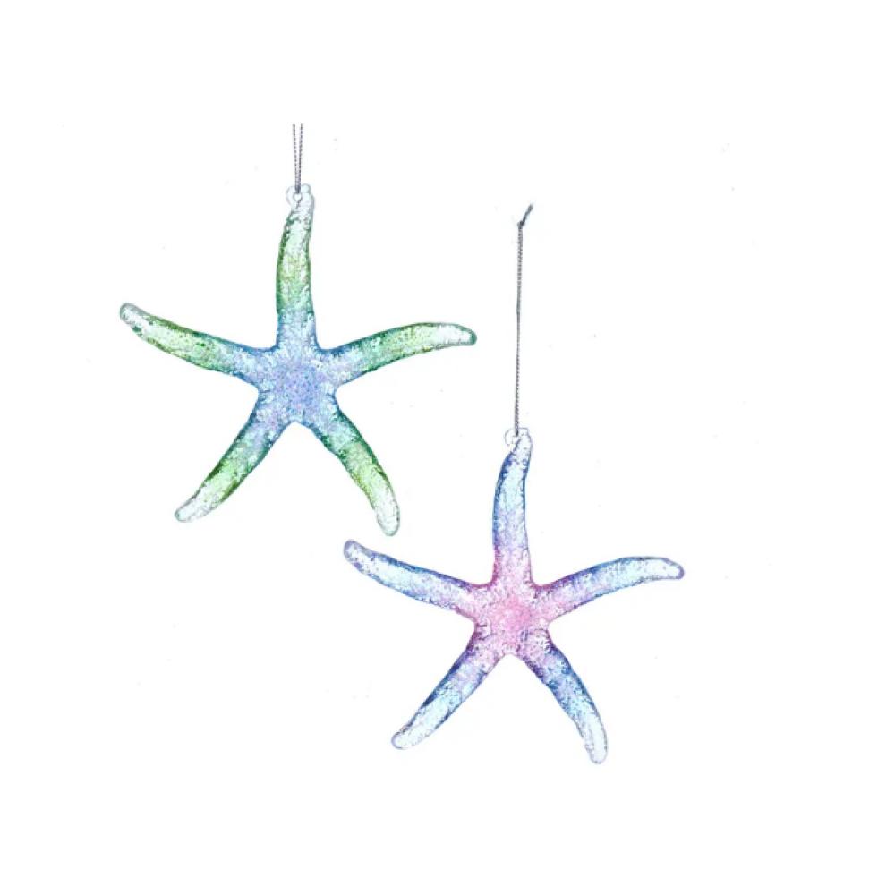 Ornament - Starfish W/ Glitter