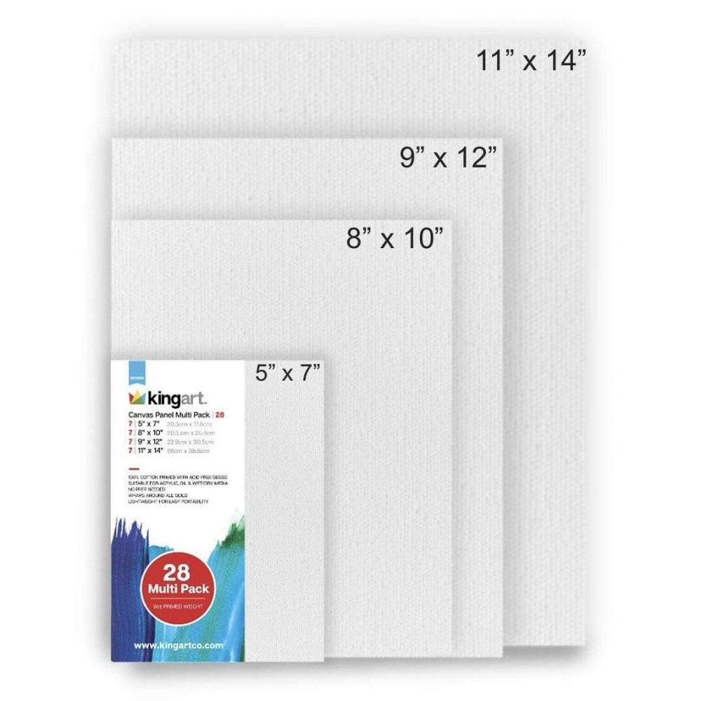 Canvas Panels Rectangular Set of 28 Or Sold Each XS $1.49 SM $1.99 MD $2.49 LG $2.99