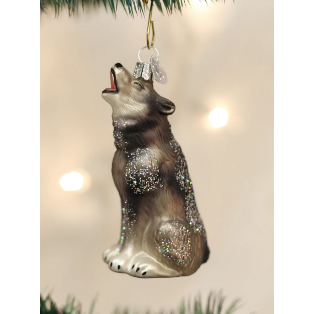 Christmas Ornament Howling Wolf