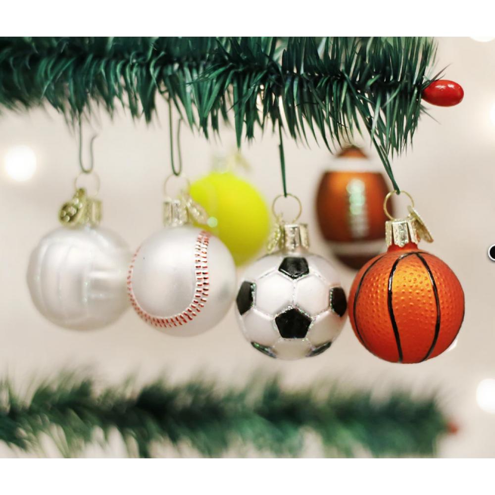Christmas Ornament Assorted Miniature Sports Balls