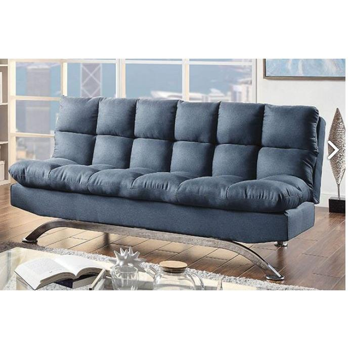 Aristo Adjustable Sofa Futon Blue